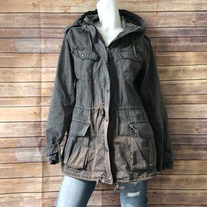 Talula army green utility jacket